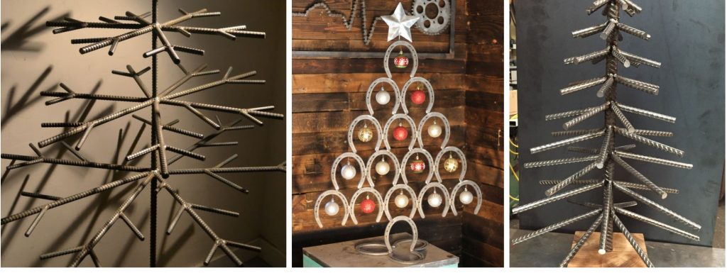 Horseshoe Christmas Tree.Holiday Welding Projects 2 Christmas Trees You Can Weld
