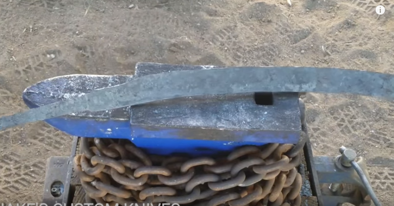 forging katana from coil spring